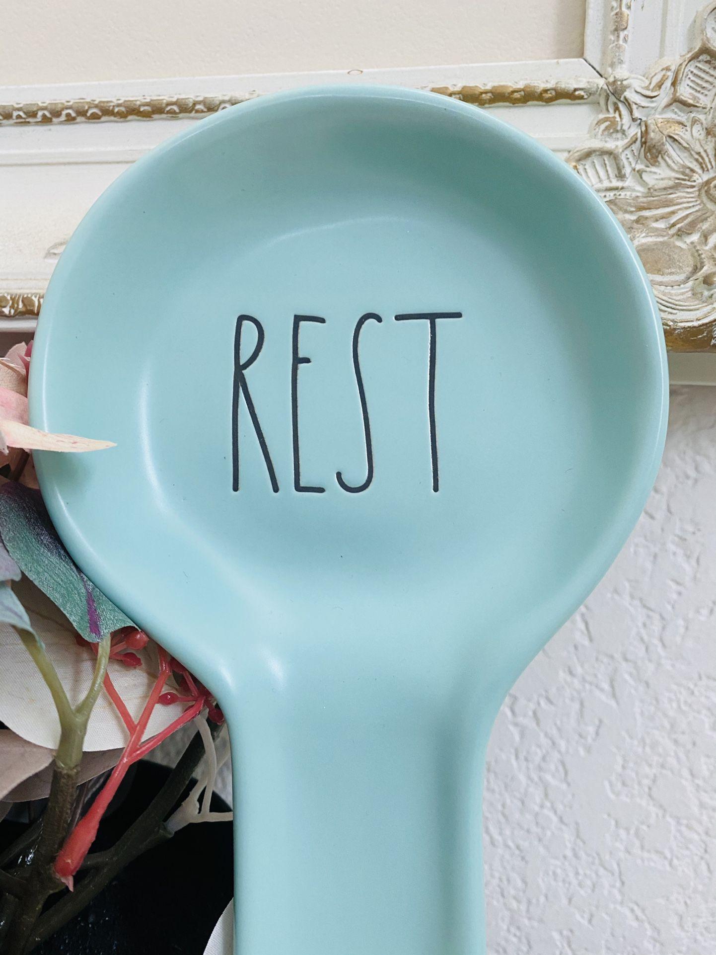 Rae Dunn Teal Spoon Rest