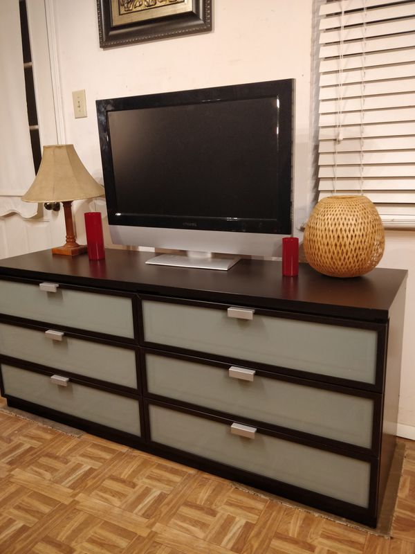 Nice Dresser Tv Stand Buffet With Big 6 Drawers L63 W19 H26 5