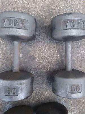 50lb york dumbells for Sale in Tampa, FL