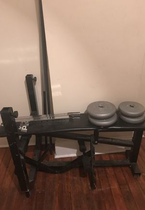 Weight bench and weights for Sale in Columbus, OH