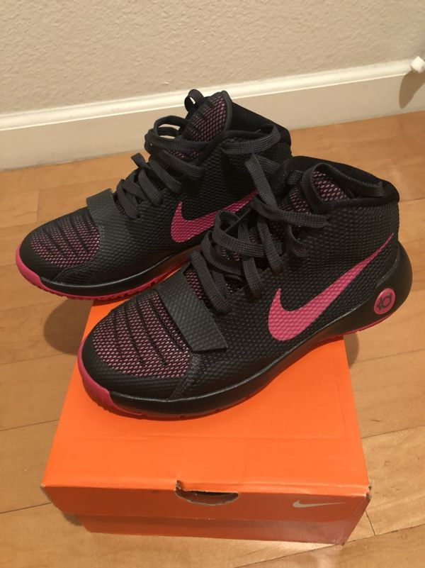 New! Nike KD Trey 5 III Girls Basketball Shoes Burgundy Youth Sz 5 ... b4d09b8e9