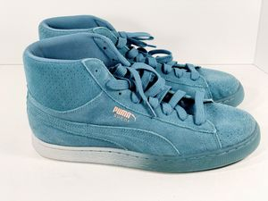 Puma Pink Dolphin Men's Shoes US Size 8 Suede Mid Classic Blue and Pink Coral DS for Sale in Glendale, AZ