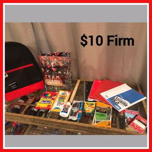 Book bag and school supplies for Sale in Frederick, MD