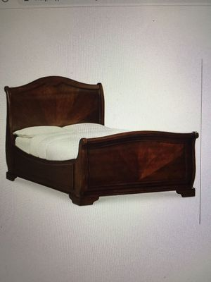 Boardeux II Queen Sleigh Bed All Wood Frame for Sale in Adelphi, MD