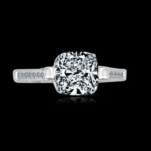 4CT (9.5x9.5mm) intensely Radiant Cushion Diamond Veneer Tension style Set in Sterling Silver Wedding/Engagement Ring. 635R71495 for Sale in San Francisco, CA