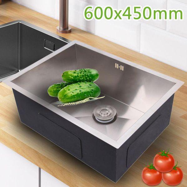 60x45cm Edelstahl Spulbecken Einbauspule Kuchenspule Kuchenarmatur
