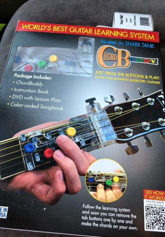 Chord Buddy Guitar Learning System with Clip-on Chromatic Tuner for ...