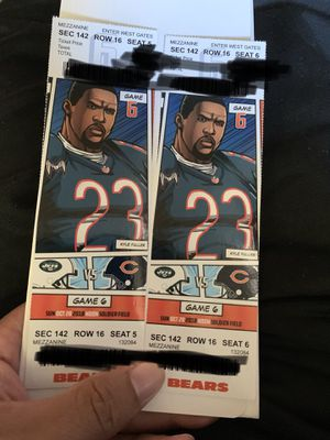 Chicago Bears vs New York Jets for October 28 at 12pm sec 142 row 16 for Sale in Chicago, IL