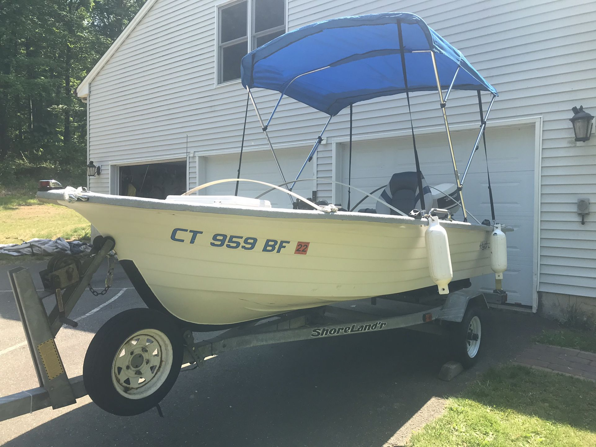 Photo 1993 Hydro Glass 14 Boat, 28 hp Motor and Trailer
