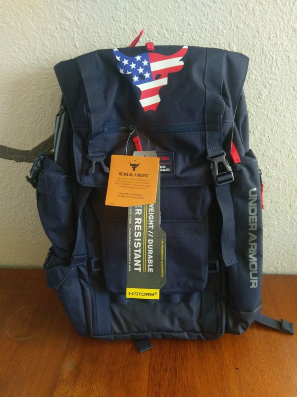 68b93d2c0154 Under Armour UA Project Rock Freedom Regiment Backpack for Sale in ...