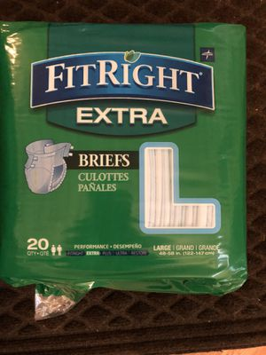 Adult diapers size large great quality for Sale in Ashburn, VA