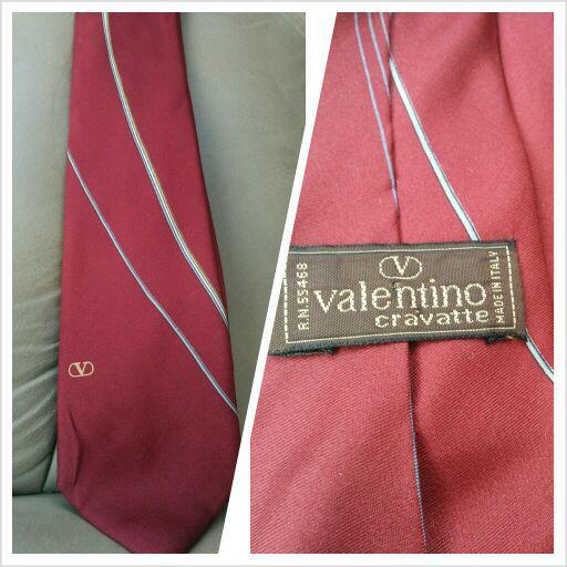 Valentino 100% silk tie