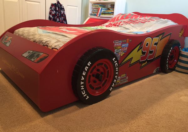 Disney Cars Lightning McQueen Red Twin Car Bed Frame For Sale In Lake Worth FL