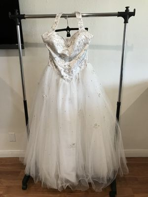 White tulle ball gown halter dress for Sale in Los Angeles, CA
