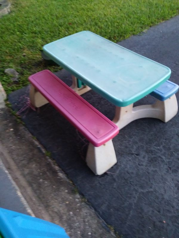 Fisher price childrens picnic table gallery table decoration ideas watchthetrailerfo picnic table for a child fisher price green top blue sea and pink picnic table for watchthetrailerfo