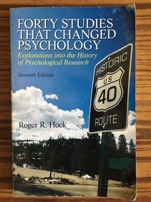 Forty Studies That Changed Psychology: Seventh Edition by Roger R. Hock for Sale in New York, NY
