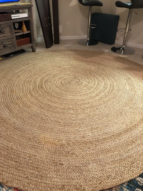 Pottery Barn 8 Ft Round Jute Rug For In Wilton Manors Fl Offerup