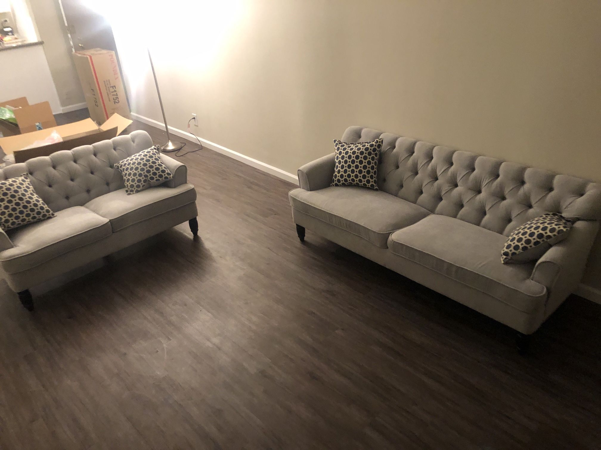 New Tufted Couch Loveseat $700 Free Delivery