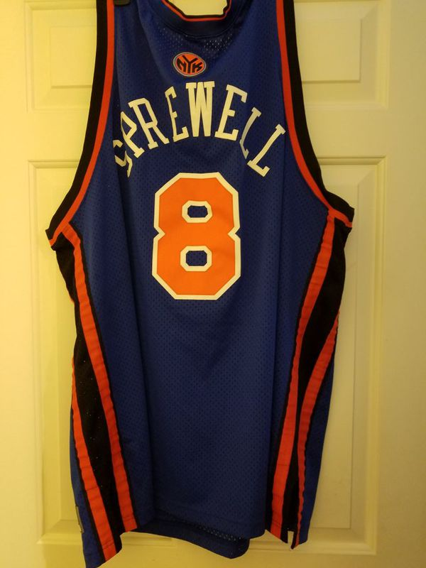 huge discount edfd2 a9dc9 New York Knicks Sprewell Nike JERSEY 4XL for Sale in Lynnfield, MA - OfferUp