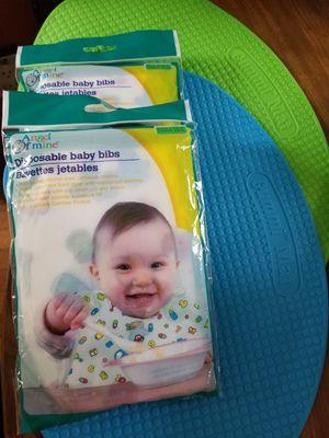 Brand new Gummi Mats & disposable baby bibs for Sale in Boston, MA