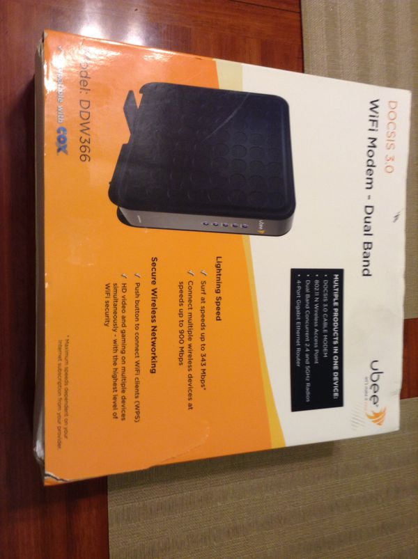 Ubee modem router for Sale in Virginia Beach, VA - OfferUp
