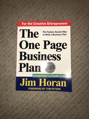 The One Page Business Plan (used) for Sale in Houston, TX