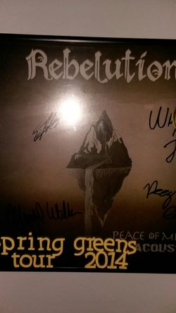 Rebelution peace of mind autographed vinyl Thumbnail