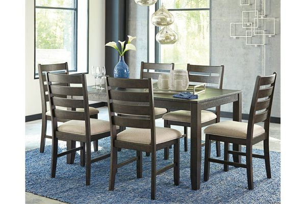 Rokane Brown 7 Piece Dining Room Set By Ashley