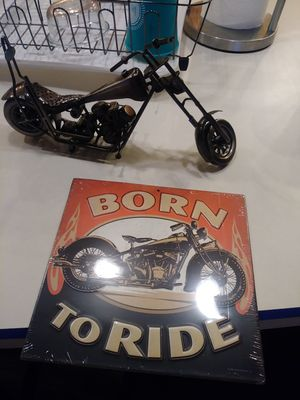 Metal. Neet motorcycle and metal sign for Sale in Tacoma, WA