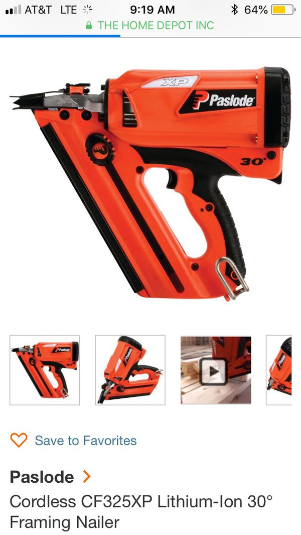 Paslode Cf325xp cordless framing gun (Tools & Machinery) in Vashon ...