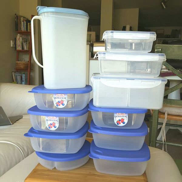Lots Of Brand New Food Storage Containers Tupperware