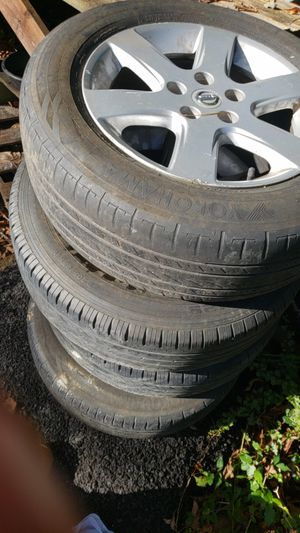 """Fours rims and tires 17"""" fo 2002 to 2005 nissan Altima for Sale in Gaithersburg, MD"""