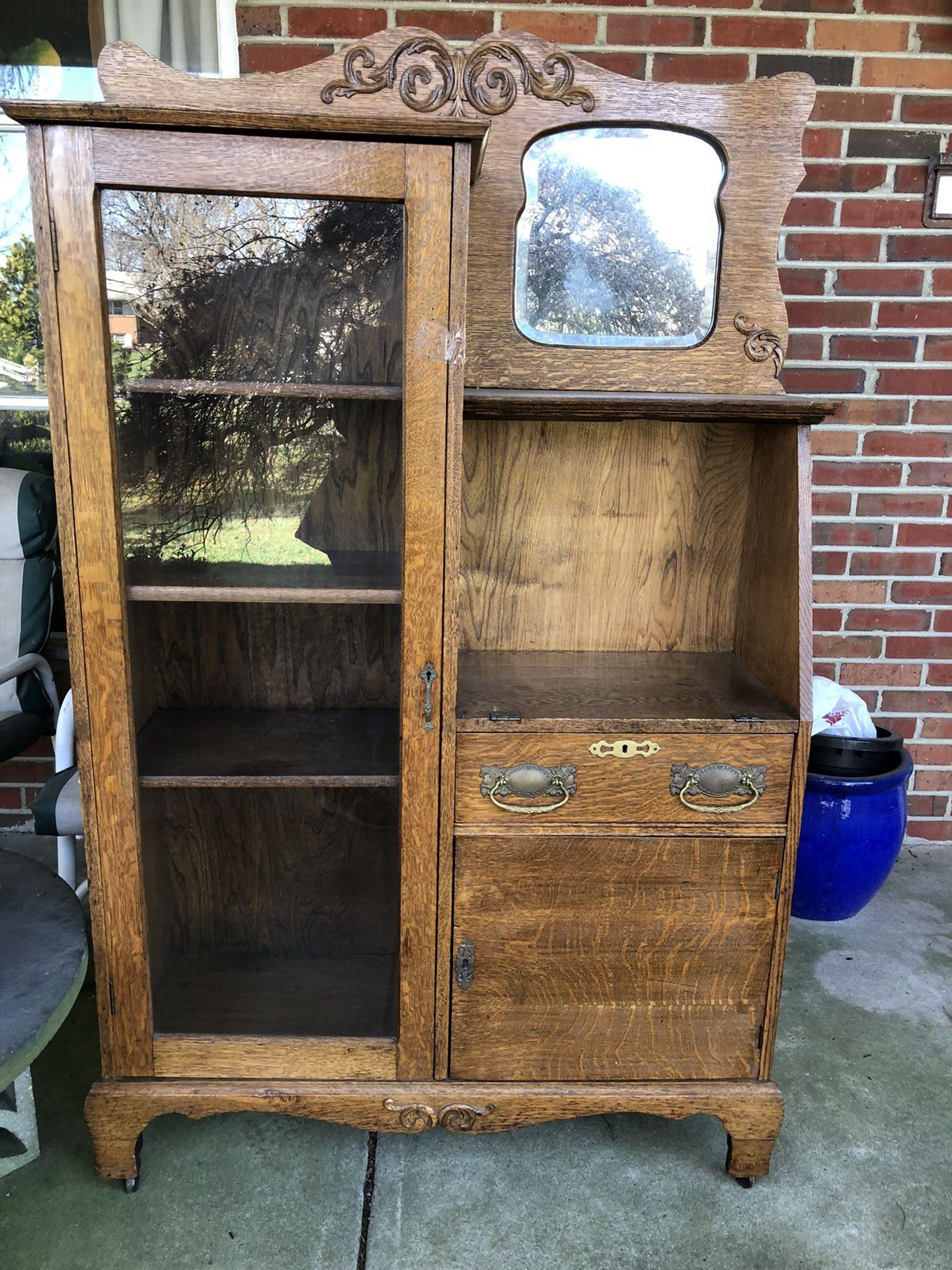 Oak side by side Vintage Secretary/bookcase