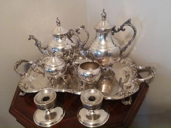 Sterling silver tea set (F.B.Rogers 1883) 1960 for Sale in Oak Park ...