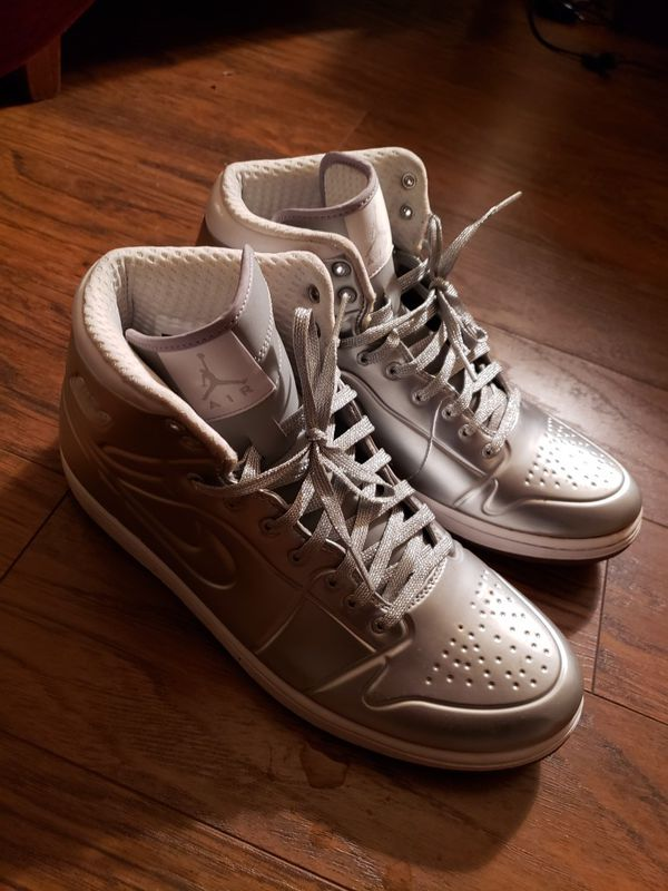 9512892d9706 Nike Air Jordan Aj 1 Anodized 414823 001 Metallic Silver Platinum ...