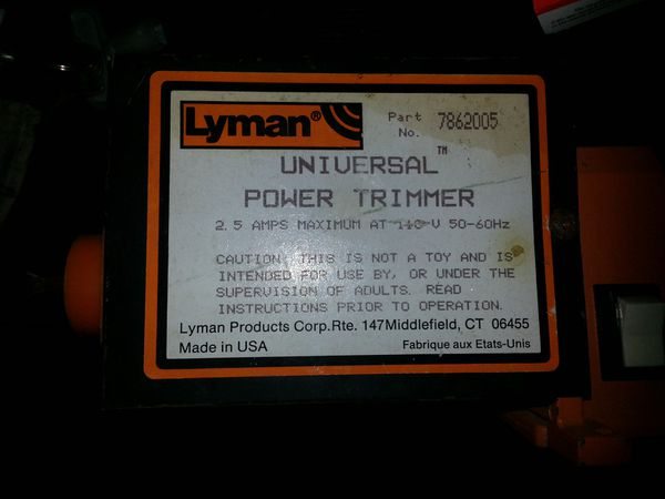 Lyman Universal Case Trimmer For Sale In San Pedro Ca Offerup