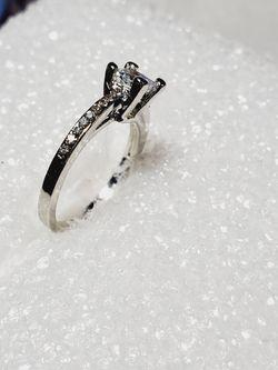 Princess Cut Sterling Silver Ring Thumbnail
