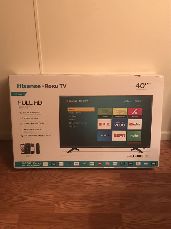 Hisense 40 Class FHD (1080P) Roku Smart LED TV (40H4030F) for Sale in  Fairfield, CA - OfferUp
