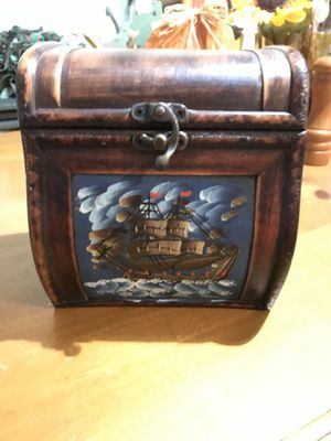 Miniature chest, very unique. Could be used for a flowering pot, jewelry box or make a great gift for Sale in Garner, NC