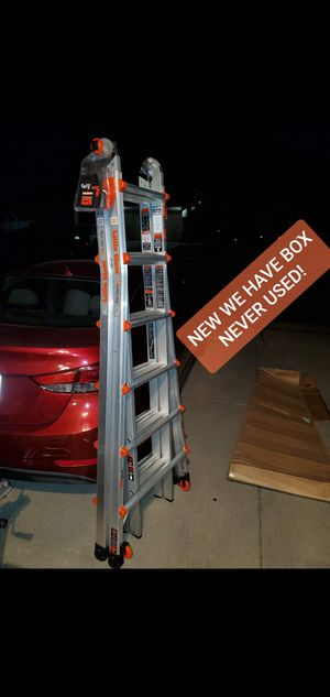 Photo LITTLE GIANT VORTEX LADDER 26 FEET VERY NICE! NEW WE HAVE BOX! NEVER USED! With WHEELS! 300 LB TWO PERSON OK