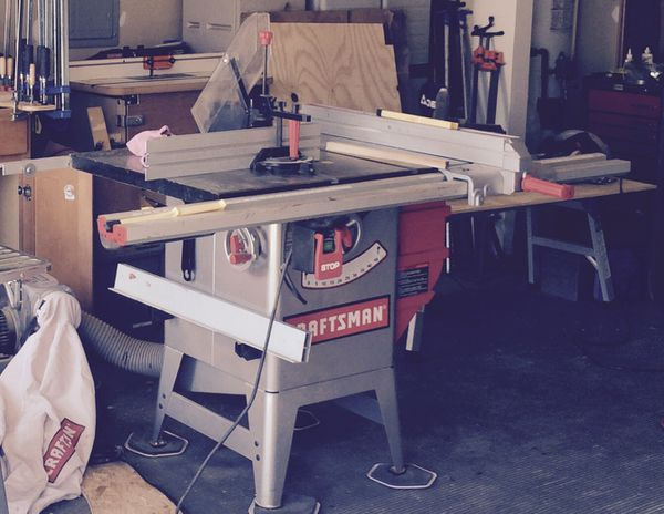 Craftsman Table saw saw and Portable dust collector  for Sale in Sanford,  NC - OfferUp
