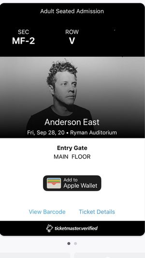 Anderson east tickets for Sale in Nashville, TN