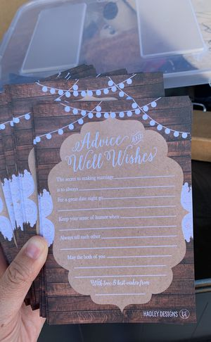 Advice and Well Wishes for Bride and Groom cards for Sale in Tempe, AZ