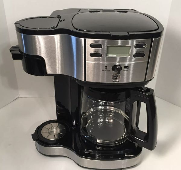 Hamilton Beach 49980a Single Serve Coffee Maker And Coffee Pot
