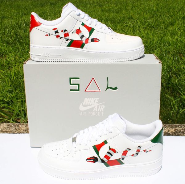 finest selection 5e9a0 01d12 Gucci x Nike Air Force 1 (Custom Painted)