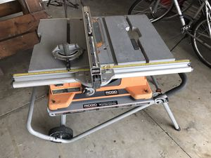"10"" Contractor table saw w/ collapsible stand. for Sale in Clermont, FL"