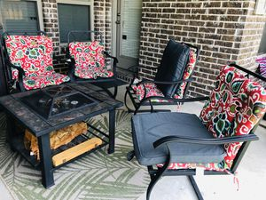 Nice Patio Furniture With Firepit Mash Mellow Nights For In Mckinney