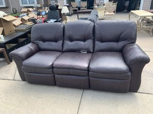 New and Used White leather couch for Sale in Denver, CO ...
