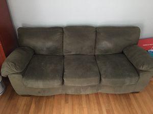 Dark green suede sofa and loveseat for Sale in Falls Church, VA
