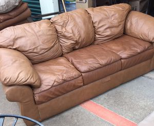 Sealy Leather Sofa With Matching Chair And Ottoman For In Plano Tx